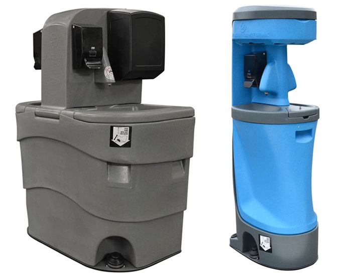 Dual sided portable hand washing sink rentals