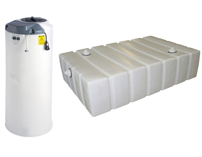 Portable holding tanks and on demand water systems