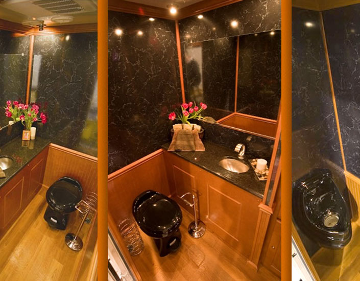 Mobile Bathroom Rental Decor Prepossessing Portable Restroom Trailers  Deluxe Vip Toilet Trailers  Elegant . Design Decoration