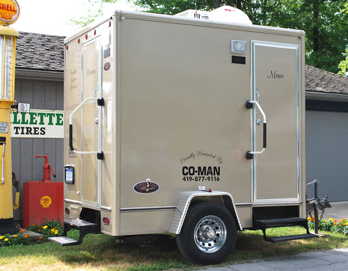 Construction event portable restrooms